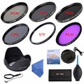 58mm UV CPL FLD ND2 ND4 ND8 Filter kits + Lens Hood + Cap + Cleaning Kit for Canon EOS 700D 650D 300D 1100D 100D 60D DSLR Camera