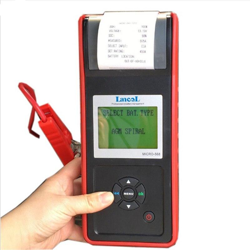 LANCOL Pro Numérique Automobile Batterie Conductance Analyseur Testeur De Batterie de Voiture 12 Volts pour AGM, GEL Batteery MICRO 568 dans Batterie Testeurs de Automobiles et Motos