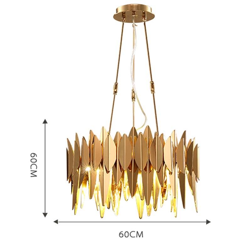 modern pendant lights Stainless steel lamp golden lamp shades design lights for dining room living room pendant lamp