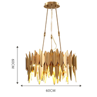 modern pendant lights Stainless steel lamp golden lamp shades design lights for dining room living room pendant lamp