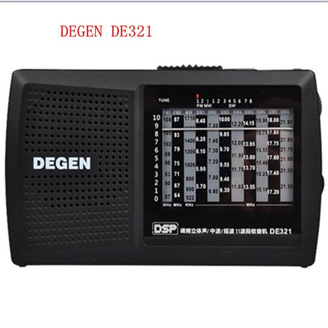Envío libre Degen de321 FM Stereo MW SW radio digital de Radio DSP Multibanda Radio FM portátil de alta calidad Mejor Precio