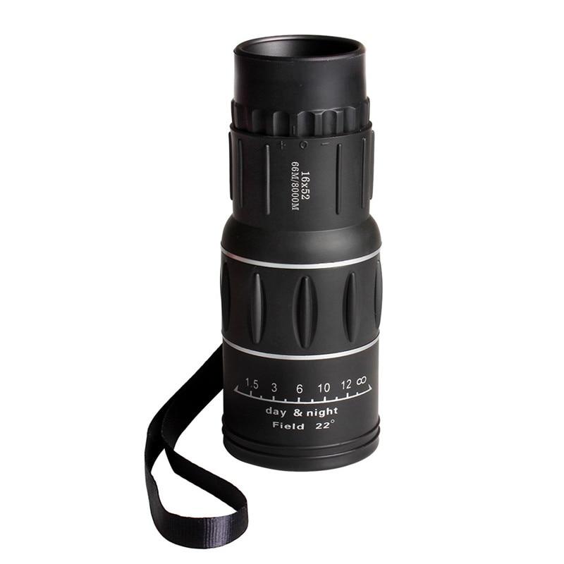 16X52 HD nešiojamas dvigubo fokusavimo priartinimas Monokuliarus - Kempingai ir žygiai pėsčiomis - Nuotrauka 3