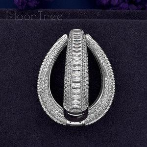 Image 5 - Modemangel moda luxo círculo redondo completo micro zircônia cúbica jóias de casamento feminino meninas cobre orelha piercings acessórios