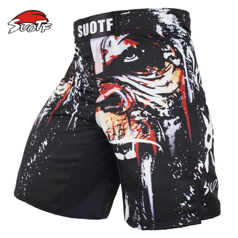 SUOTF MMA Boxing Sports Men Orangutan Patterns Personality Breath Large Fitness Thai Boxing Shorts Tiger Muay Thai kickboxing