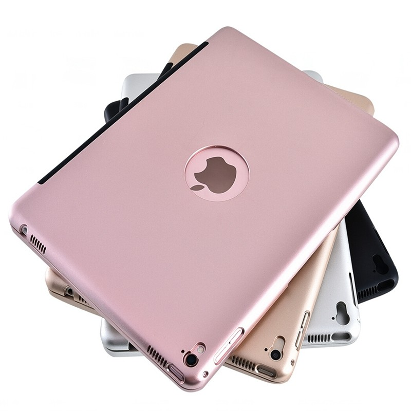 New Wireless Coque for iPad Air 2 Cover with Keyboard 9.7'' A1566 A1567 Bluetooth PVC for Apple iPad Air 2 Keyboard Case (4)