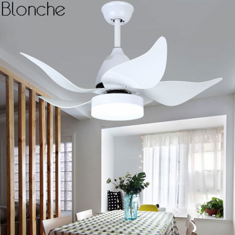 42 Inch Led Modern Ceiling Fans With Light Remote Control Living