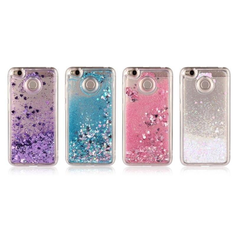 Half-wrapped Case For Xiaomi Redmi 4 4x Glitter Bling Quicksand Water Sand Case Cover For Xiaomi Redmi 4 Prime 4 Pro Liquid Case Coque Capa Fundas