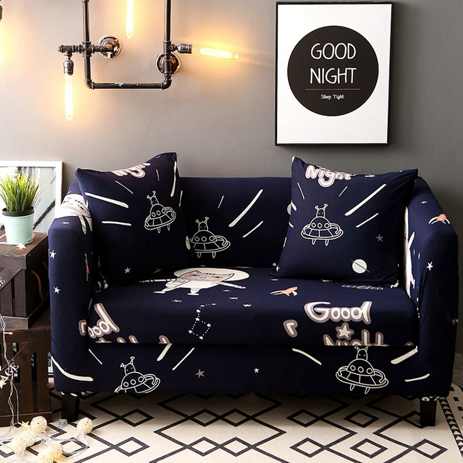 Navy universal stretch sofa covers for living room,100%