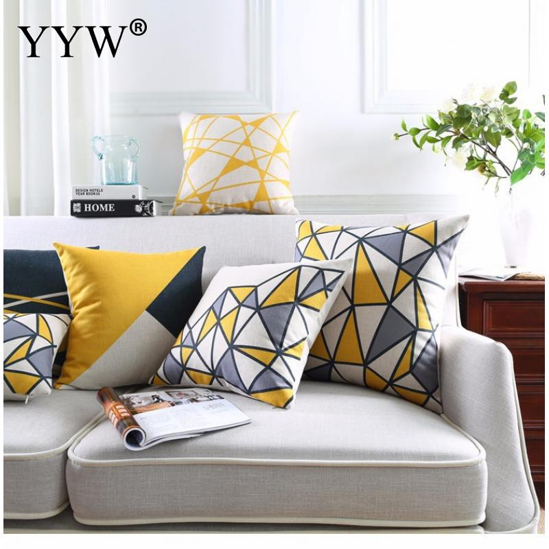 Nordic Cushion Covers Cushion Cover Decorative Pillowcase Cotton Sofa Cushion Car Waist pillow case Office Lunch Break
