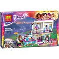 Bela 10498 Friends Series Livi's Pop Star House Andrea mini-doll Building Blocks Educational Bricks Toys for Children