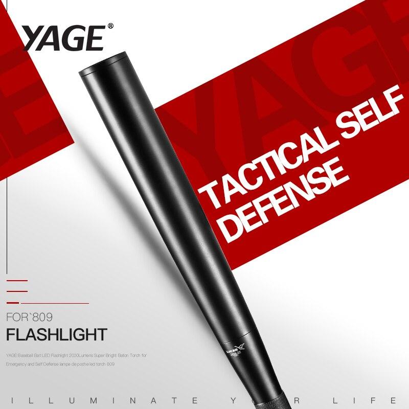 YAGE Mazza Da Baseball Torcia LED 2000 Lumen Super Bright Baton Torcia per L'emergenza e Autodifesa lampe de poche led torch 809