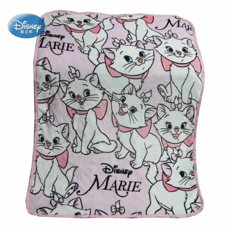 Disney Marie Cat Flannel Fuzzy Blankets on Bed/Sofa Air Condition Sleeping Cover Bedding Throws for Baby Kids Girls Pet