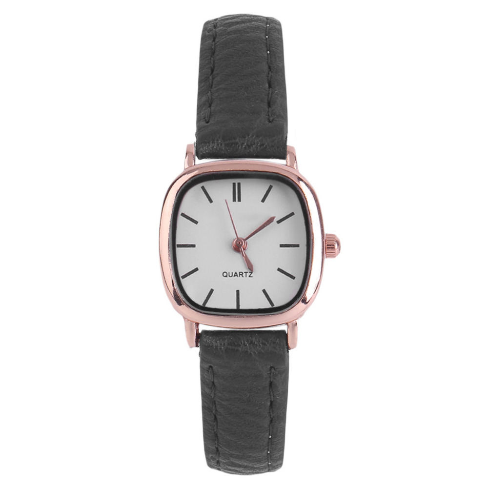 Fashion Relogio Feminino Vintage Ladies Small Dial Square Dress Watch Fashion Woman Quartz Thin Leather Wristwatch