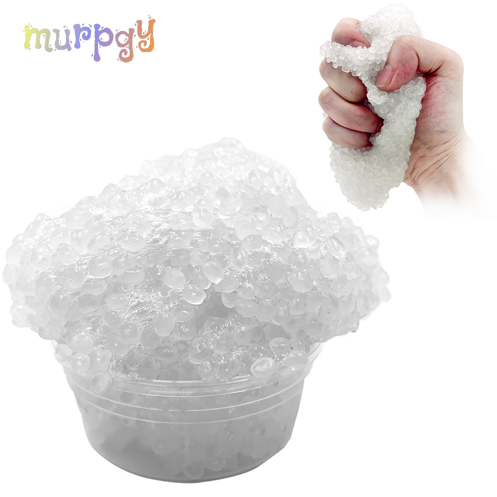 50g Crystal Slime Rice Mud Glue Foam Clear Bead Cloud Fluffy Slime AntiStress Toy Light Plasticine Modeling Clay Putty For Kids