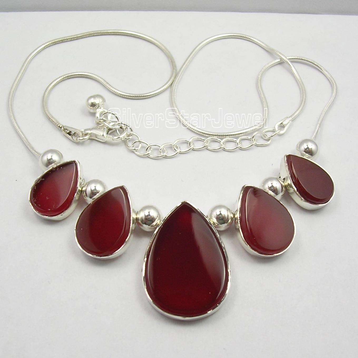 Chanti International . Silver RED FIRE CARNELIAN ART Necklace 18.5 Inches WOMEN'S JEWELRY серьги art silver art silver ar004dwzmh30