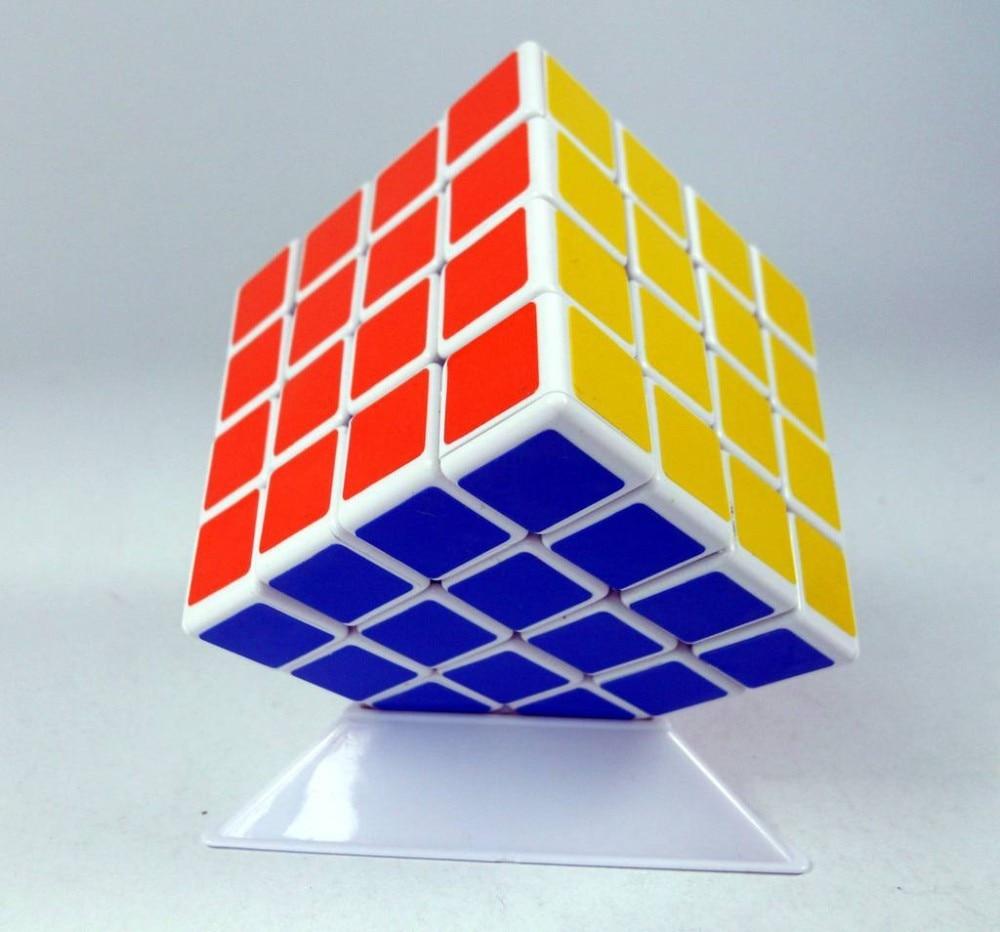 ShengShou 4x4 Puzzle cub Speed Professional Cube negru / alb Ultra-Smooth Educational Twist Puzzle Jucarii Curler Transport gratuit