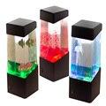 Nova Luz De Mesa LEVOU Jellyfish Tanque de Peixes Tropicais Aquário LEVOU Luz Relaxante Humor Luz Da Noite Da Lâmpada de Cabeceira