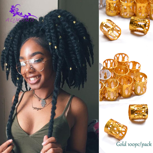 Hot Colorful Round Hair Rings 100pcs lot Dreadlocks Beads Box