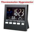 Colorido LCD Termómetro Higrómetro temperatura humedad medidor Tester Reloj Alarma Calendario Pronóstico del tiempo estación meteorológica