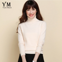 YuooMuoo Women Sweater Plus Size Casual Turtleneck Cashmere Knitted Sweater Autumn Winter Solid Ladies Sweater High