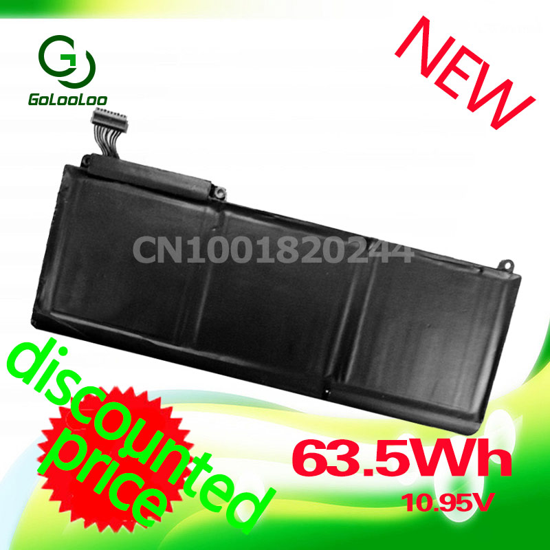 цена на Golooloo 10.95V 63.5Wh Laptop battery For Apple A1331 A1342 661-5391 MC207 For MacBook 13