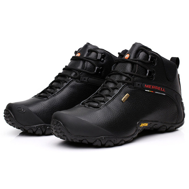 Merrell Men's Outdoor Sports Leisure Tourism Wearable Genuine Leather Climbing mountaineering Hiking shoes meledje 39-44