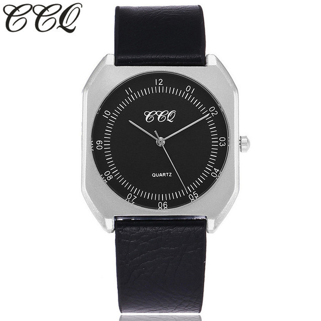 CCQ Brand New Fashion Simple Ultra Thin Dial Watch Luxury Silver Women Watches Casual Male Quartz Clock Man Wristwatches Gift