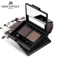 Two Color Eye Brow With Brush Makeup Waterproof Glitter And Shimmer Eyebrow Enhancers Powder Palette Eye