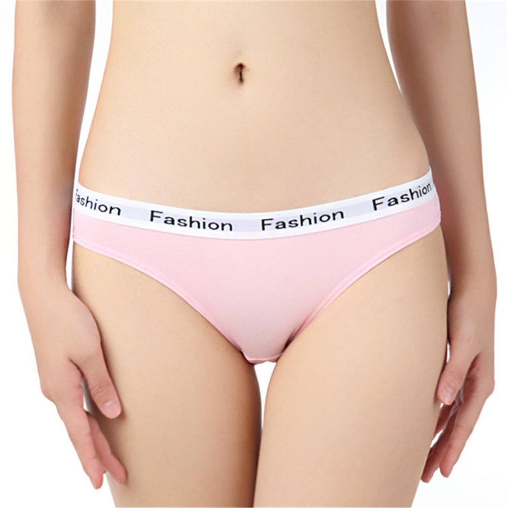 Sexy panties women Fashion printed Pink cotton briefs female underpants ladies Seamless underwear Plus Size thongs g strings