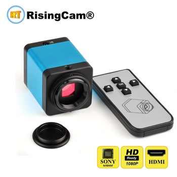 Remote Control SONY imx323 sensor HD 1080P HDMI C Mount Digital Video industrial microscope camera for phone PCB Repair - DISCOUNT ITEM  5% OFF Tools