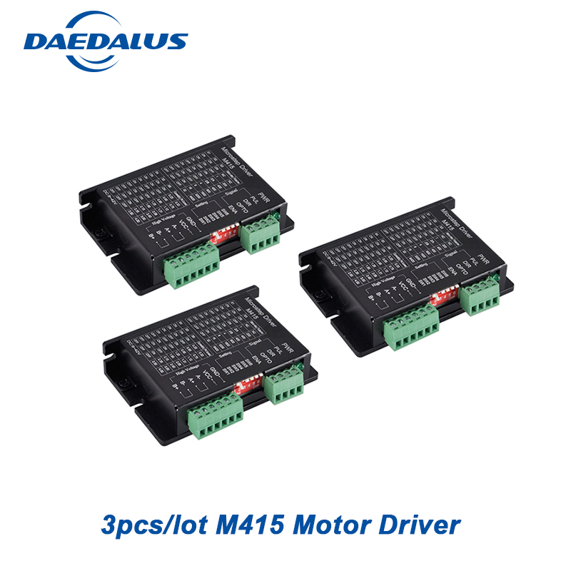 3pcs/lot Micro Stepper <font><b>Motor</b></font> <font><b>Driver</b></font> M415 <font><b>Driver</b></font> Controller For 42/57 Stepper <font><b>Motor</b></font> <font><b>DC</b></font> 9-42V Nema17 Nema23 Stepping Machine image