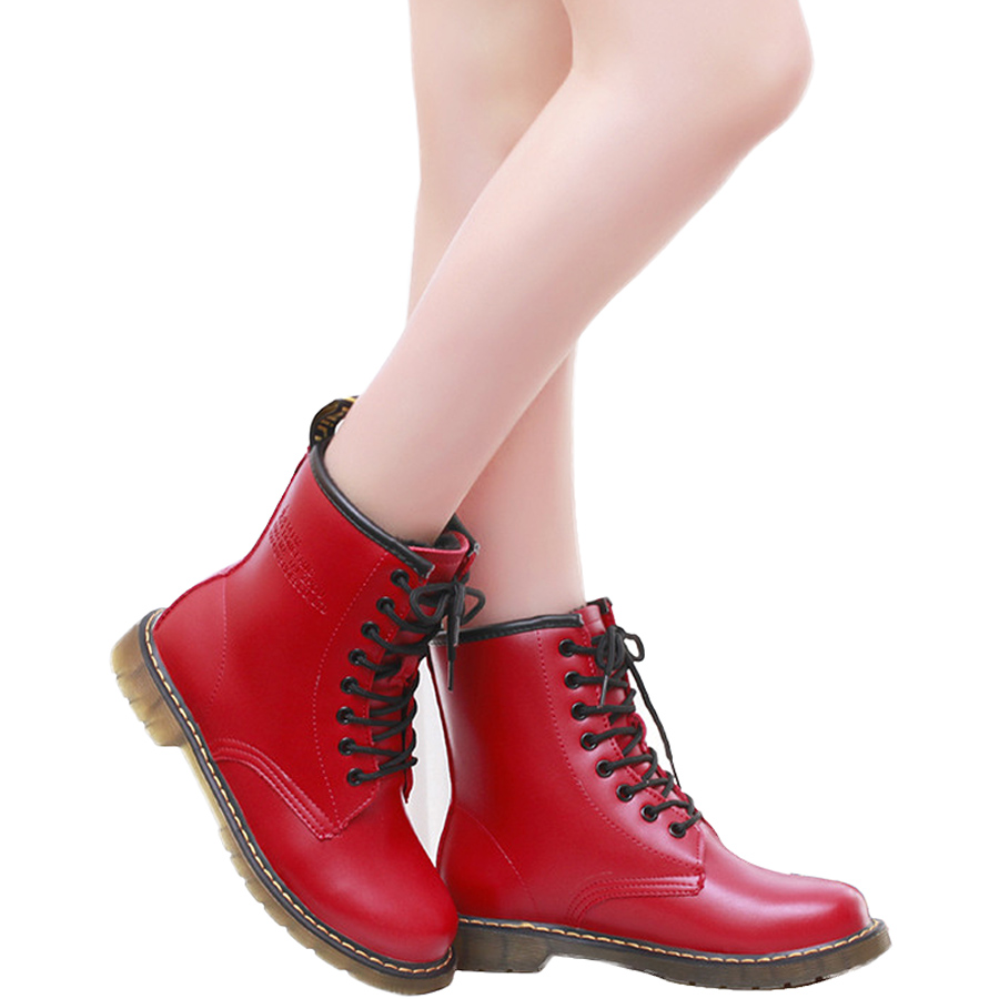2016 Winter New Womenu0026#39;s British Style Martin Boots Retro Fashion Shoes Plus Velvet Warm Tendon ...