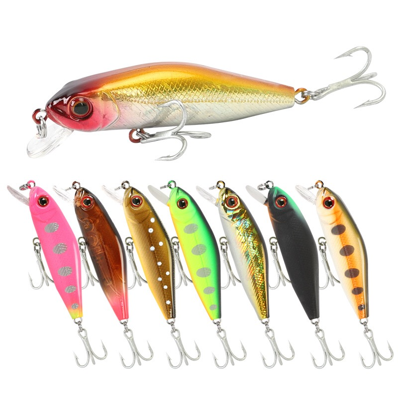 1pcs Pike Fishing Lures 5.8cm 5.1g Minnow Bait Crankbait Isca Artficial Hard Bait Fishing Wobblers Bass Fake Fish Carp