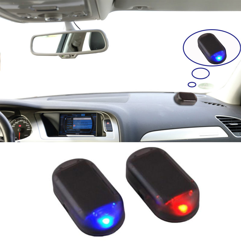 1pcs Universal Car Led  Imitation  Security Light  Flashing  Solar Powered Simulated  Alarm Warning Anti-Theft Caution Lamp LED