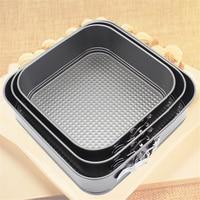 3 PCS/SET Square Shape Metal Cake Pan Kitchen Bakeware Supplies Carbon Steel 8910 Cake Baking Mold Wholesale Cake Baking Form