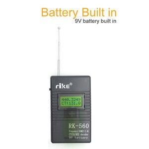 Image 3 - 50MHz 2.4GHz taşınabilir el frekans sayıcı RK560 DCS CTCSS radyo test cihazı RK 560 frekans ölçer