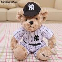 England fashion units baseball bear large 32cm cartoon teddy bear plush toy soft doll birthday gift b0719