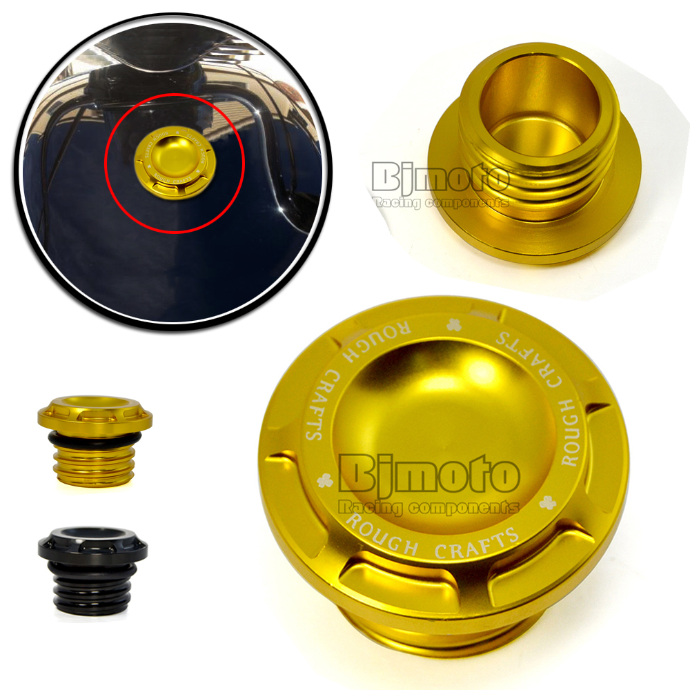 FTC-002-GO New Billet Aluminum Gold Motorcycle Fuel Gas Tank Cap Cover For Harley Davidson Sportster Dyna Softail Touring