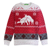 New Harajuku Christmas Hoodies Deer Funny Printed Sweatshirts Sportswear Print With Snow Elks Christmas Trees Pullovers