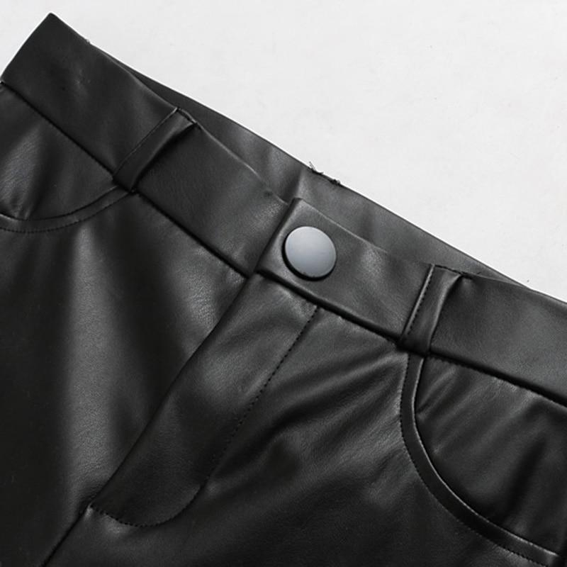 En Taille Homme Vintage Décontracté 2019 Veste Solide As Pantalones À Mujer La Serré Bouton Pu Cuir Femmes Pour Pantalon Picture Femme Mode Sexy Haute HZZw6rI