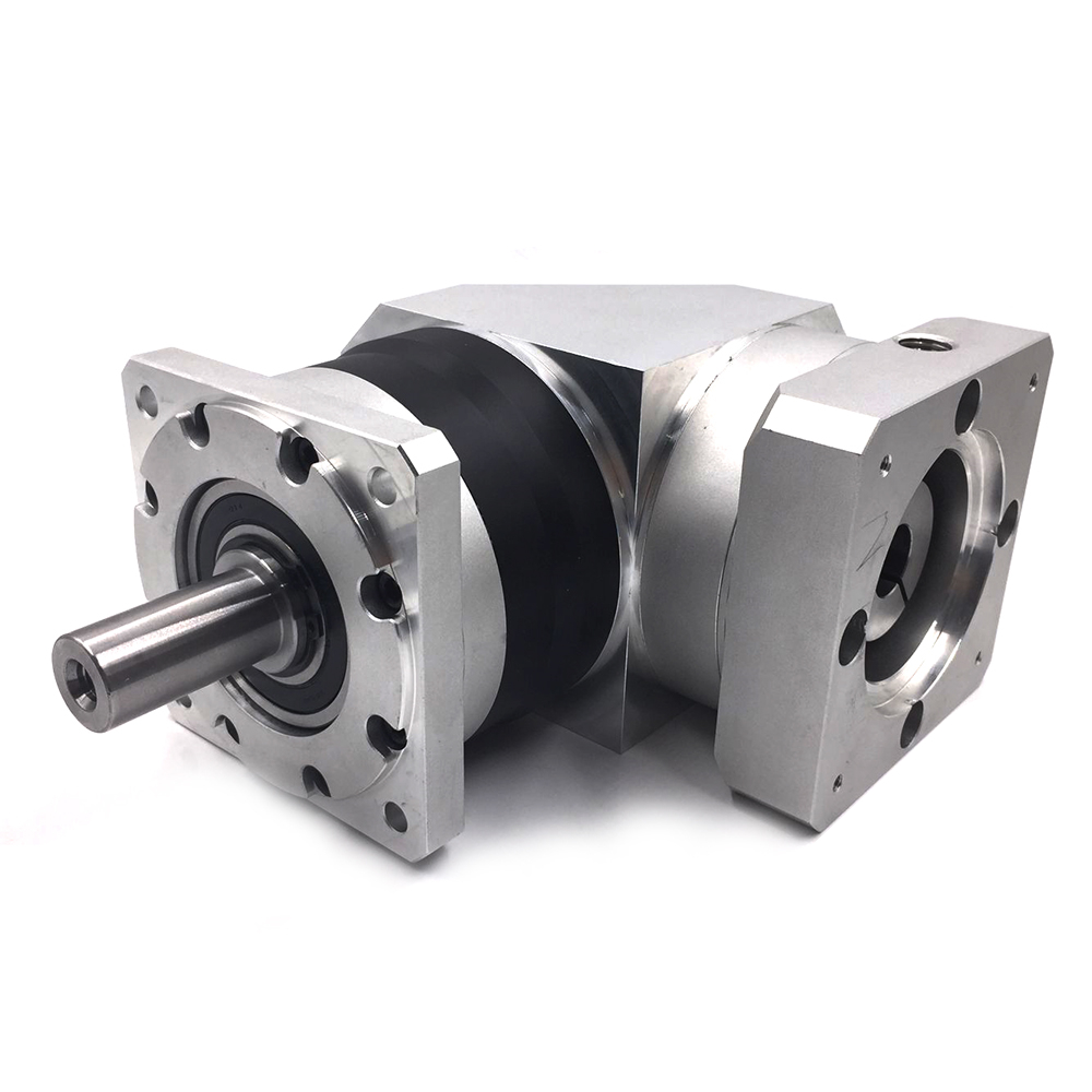 New 90 Degree, Ratio 100:1 60mm 4000rpm Torque 35.5NM Planetary Gearbox Reducer Input Bore 14mm for NEMA24 Servo motor planetary gear box pgl60 100 sesame double stage size 60 ratio 100 norminal output torque 25nm new