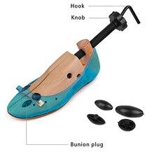 Unisex Cedar drewniane buty drzewo butów kobiety męskie buty nosze Expander Shaper Keeper regulowany 2 sposoby ue 35 46
