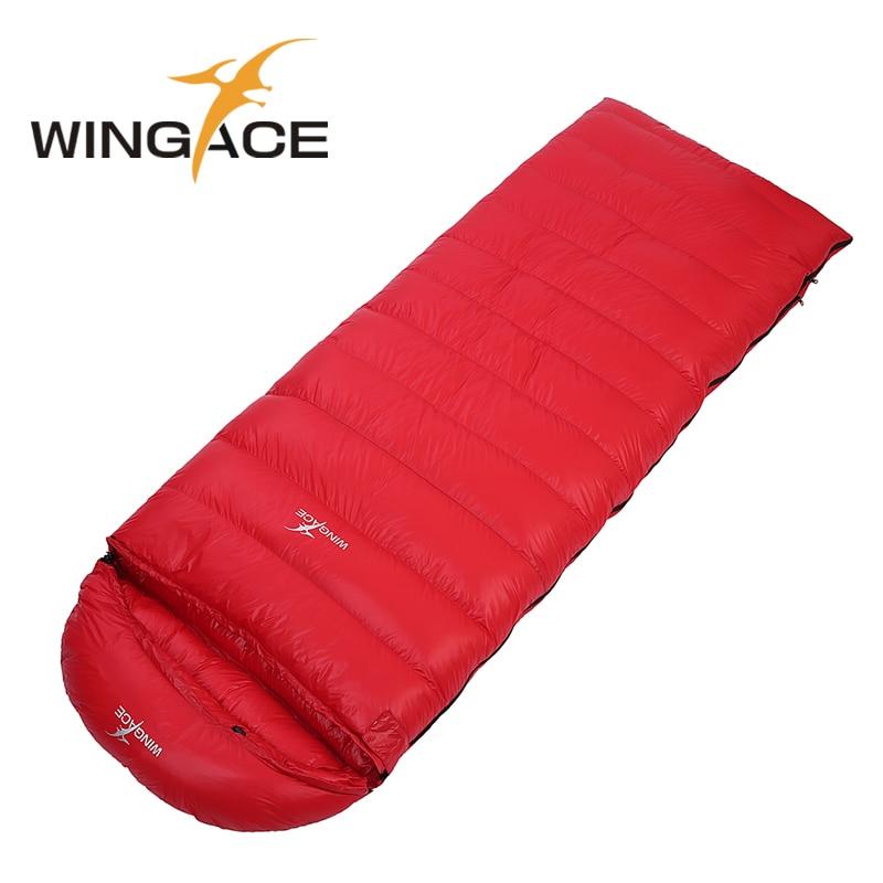 WINGACE Fill 400G 600G 800G 1000G 1200G Envelope Duck Down Outdoor Adult Ultralight Camping Winter Warm Splicing Sleeping Bags аквариум на 600 1000 литров с рук