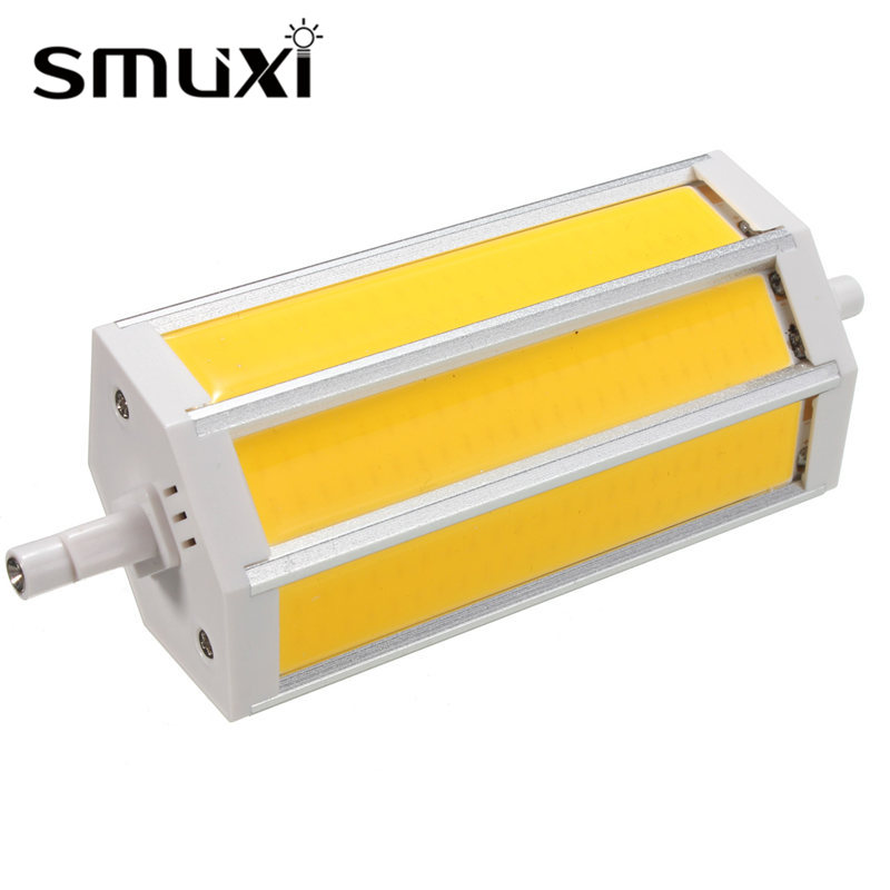 Smuxi High Bright Dimmable R7S 20W LED Light Bulb COB SMD Floodlight Spotlight Bulb Lamp 135mm 2000lm Lighting AC85-265V 30% off 2pcs ultrathin led flood light 50w black ac85 265v waterproof ip66 floodlight spotlight outdoor lighting free shipping