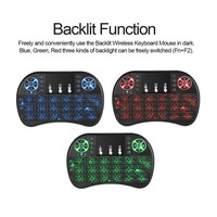 2 4G Backlit Wireless Air Mouse Remote Control MiNi I8 Wireless Keyboard With Touchpad Finger Air
