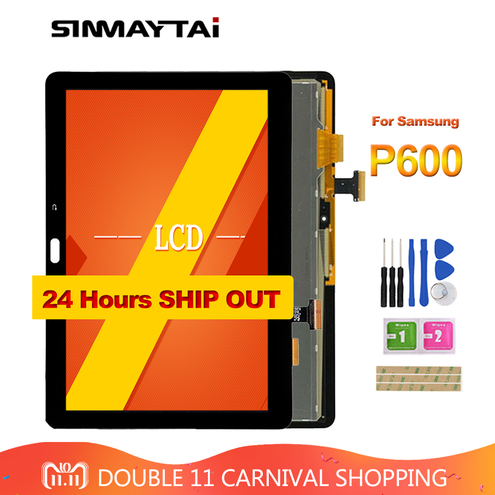 Black P600 LCD For Samsung Galaxy Note 10.1 SM- P600 P601 P605 Touch Screen Digitizer + LCD Display Panel Monitor Assembly цена