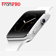 Frompro nuevo x6 bluetooth smart watch smartwatch para android teléfono con cámara de teléfono sim soporte de tarjeta tf 8977 gsm facebook twitter
