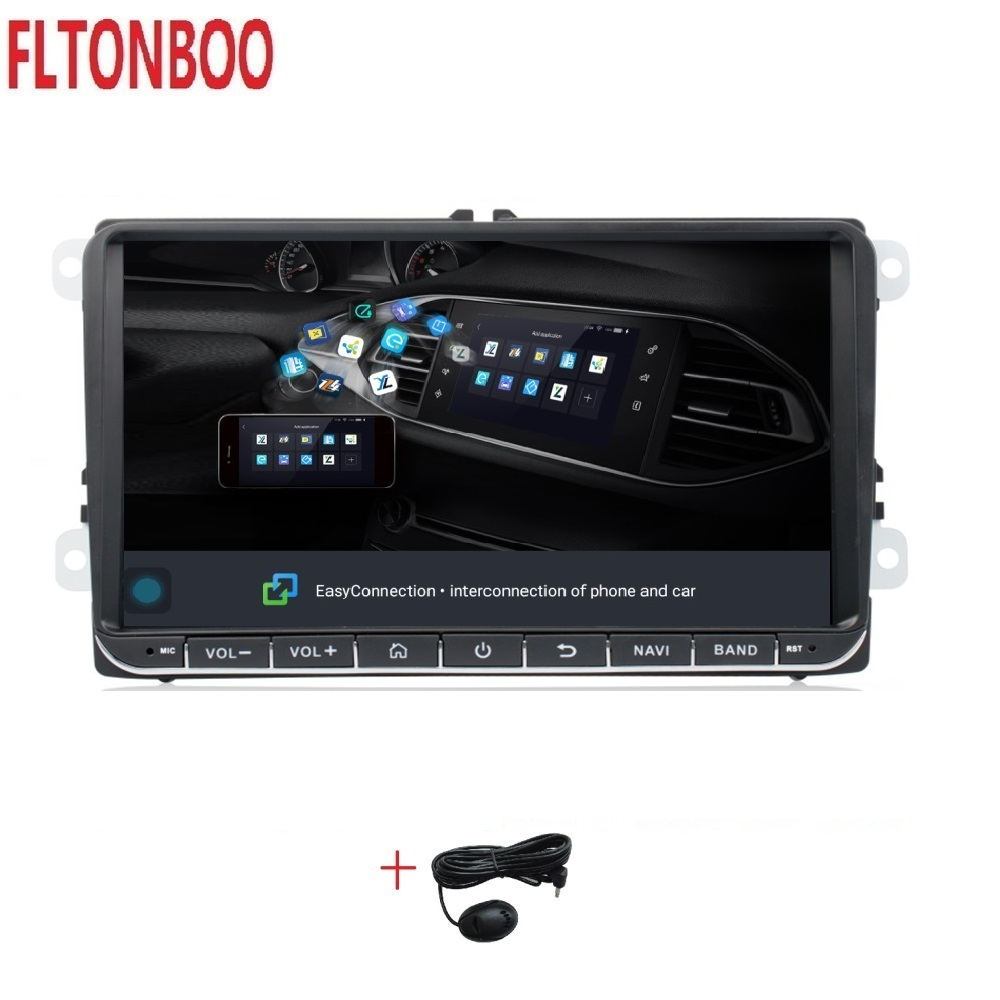 9 Android 9.1 Car GPS Navigation for VW Volkswagen GOLF 5, Polo Passat b5, Jetta Tiguan Touran Skoda,7708,canbus,steering wheel