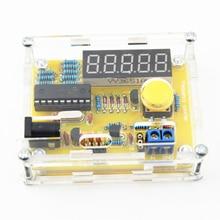 """Новое поступление """"сделай сам"""" 1 Гц-50 МГц тестер счетчик частоты тестер корпус электроизмерительного прибора Лучшая цена прочный """"сделай сам"""", набор светодиодной подсветки"""