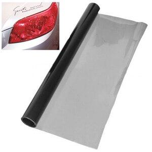 Image 2 - 새로운 30*120cm 딥 그레이 자동차 헤드 라이트 브레이크 테일 라이트 색조 비닐 랩 필름 시트 헤드 라이트 안개등
